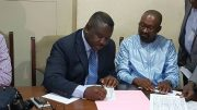 Maada Bio signs political parties codes of conduct at the PPRC headquarters in Freetown