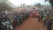 jubilant crowd welcomes Bio in Kamakwie